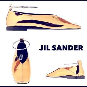 Jil Sander metallic flats